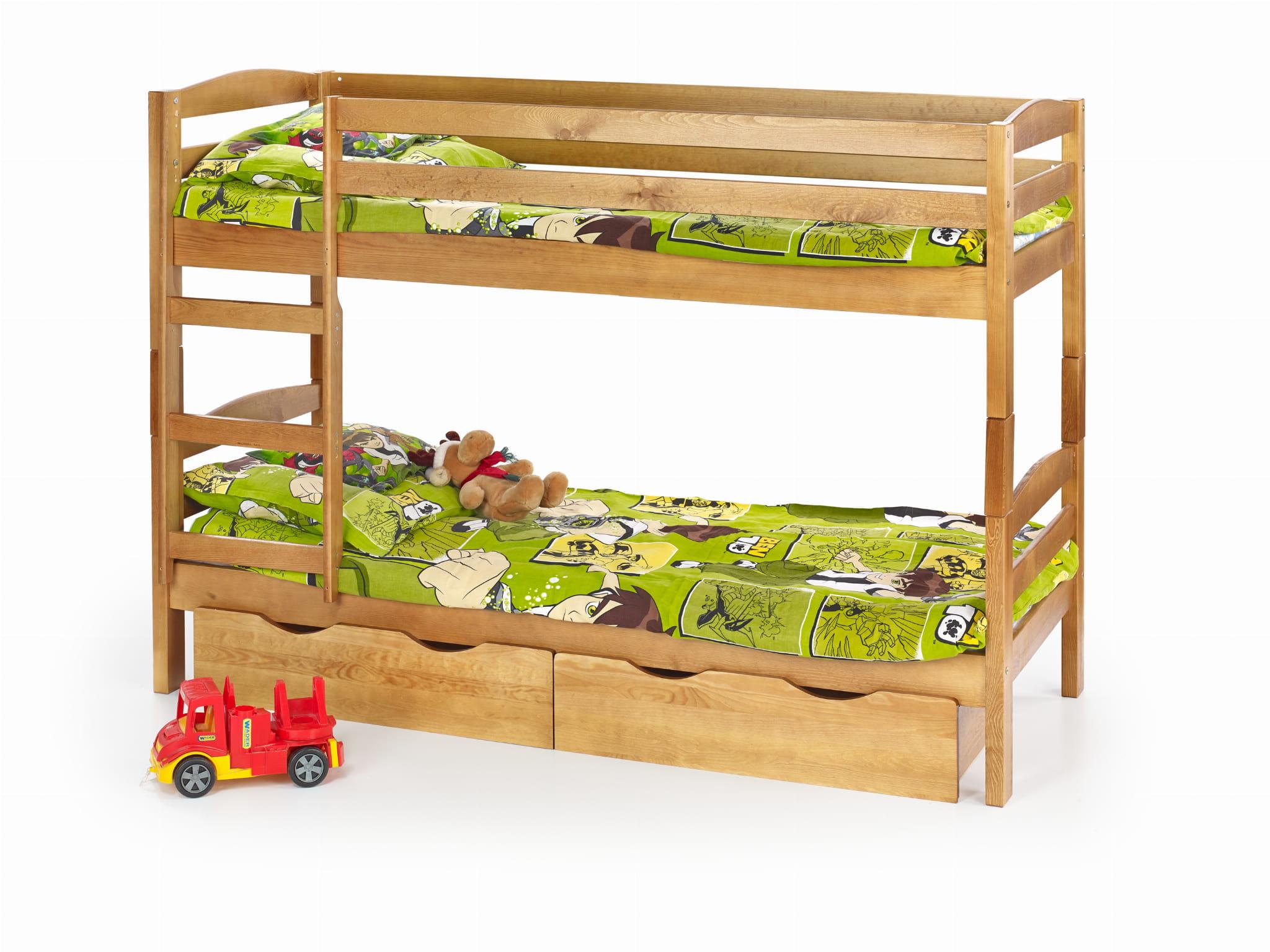 Halmar Sam łóżko Piętrowe Z Materacami Olcha